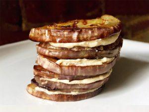 茄子の胡麻味噌ソースサンド